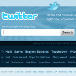 Screenshot of the Twitter home page